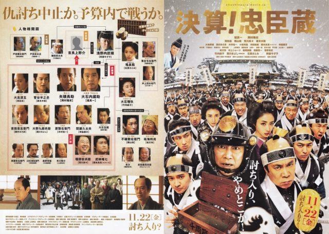 「決算!忠臣蔵」映画キャスト一覧・相関図を画像付きでわかりやすく紹介するでござる!