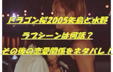 ドラゴン桜2005矢島と水野ラブシーンは何話?その後の恋愛関係をネタバレ!